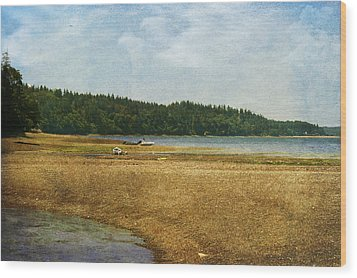 Waiting For The Tide Wood Print by Terrie Taylor