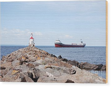 Waiting Point Wood Print by Whispering Feather Gallery