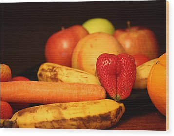 Wake Up - Fruit Is In The Air Wood Print by Andrea Nicosia