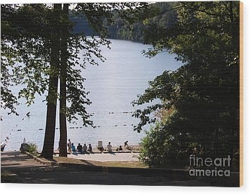 Walden Pond Wood Print by John Small