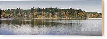 Walden Pond Panorama I Wood Print by Thomas Marchessault