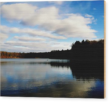 Walden Pond Reverie  Wood Print by Frank Winters