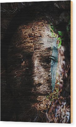 Waldgeist Wood Print by Christopher Gaston