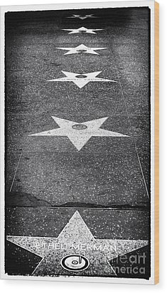 Walk Of Fame Wood Print by John Rizzuto