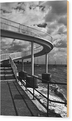 Wood Print featuring the photograph Walk Over Water by Trevor Chriss