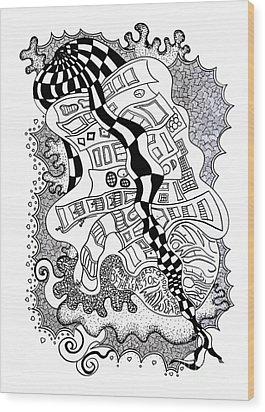 Walking By Wood Print by Fla Arakaki