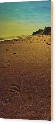 Walking Off Into The Sunset Wood Print by David Hahn