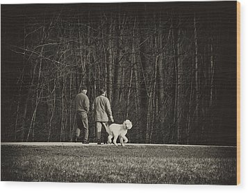 Walking The Dog Wood Print by Off The Beaten Path Photography - Andrew Alexander