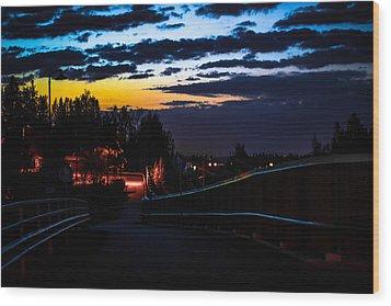 Wood Print featuring the photograph Walkway by Matti Ollikainen