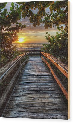 walkway to Paradise Wood Print by Nick  Shirghio
