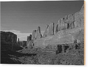 Wall Street Arches National Park Utah Wood Print by Scott McGuire