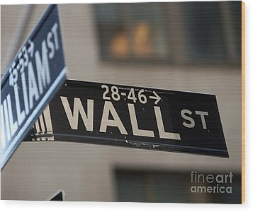 Wood Print featuring the photograph Wall Street by Leslie Leda