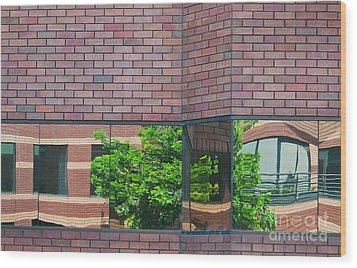 Wall Warp Wood Print by Dan Holm