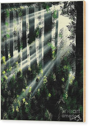 Waning Light Wood Print by Greg Moores