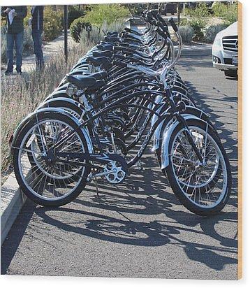 Wanna Ride Wood Print by Raquel Amaral