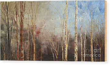 Wood Print featuring the painting War And Peace by Tatiana Iliina