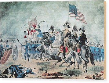 War Of 1812 Battle Of New Orleans 1815 Wood Print by Photo Researchers