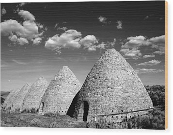 Ward Charcoal Ovens Wood Print by Scott McGuire
