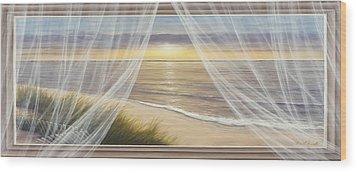 Warm Breeze Panoramic View Wood Print