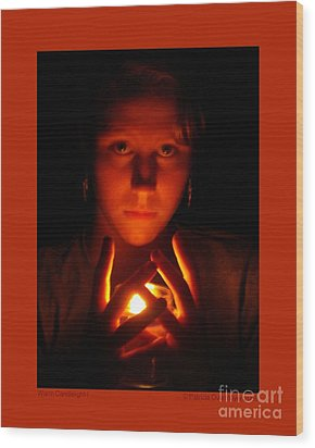 Wood Print featuring the photograph Warm Candlelight by Patricia Overmoyer