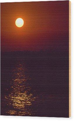 Warm Sunset Wood Print by Al Hurley