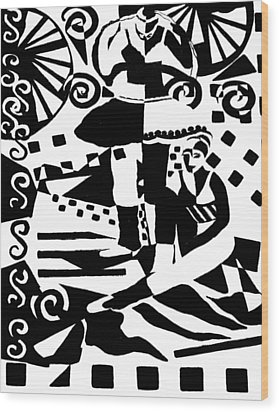 Warming Up - Dance I Wood Print by Forartsake Studio