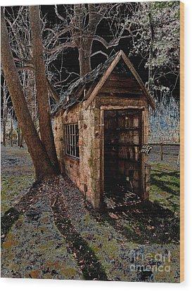 Warned Wood Print by Cindy Roesinger
