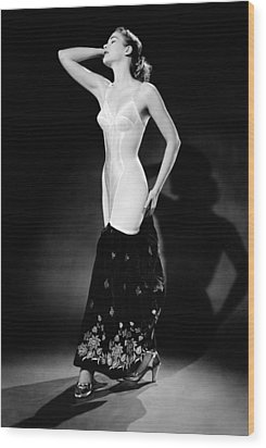Warner Corset Provided Full Body Wood Print by Everett