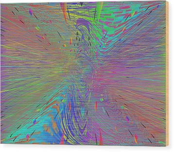 Warp Of The Rainbow Wood Print by Tim Allen