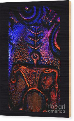 Warrior Guardian Of Truth Wood Print by Susanne Still