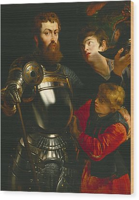 Warrior  Wood Print by Peter Paul Rubens