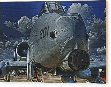 Wood Print featuring the photograph Warthog by Travis Burgess