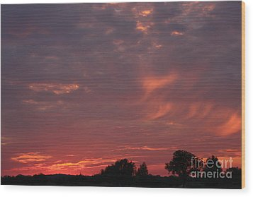 Wood Print featuring the photograph Warwickshire Sunset by Linsey Williams