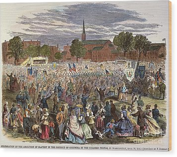 Washington: Abolition, 1866 Wood Print by Granger