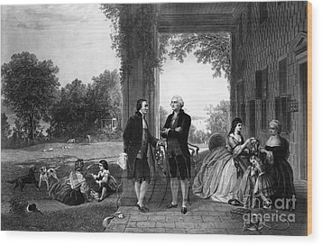 Washington And Lafayette, Mount Vernon Wood Print by Library of Congress