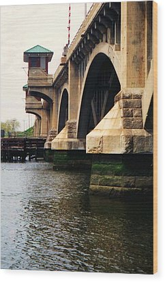 Wood Print featuring the photograph Washington Bridge by John Scates