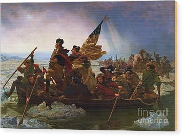 Washington Crossing The Delaware Wood Print by Pg Reproductions