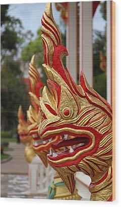 Wat Chalong 3 Wood Print