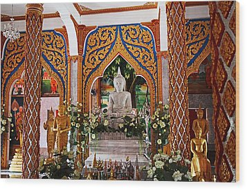 Wat Chalong 4 Wood Print by Metro DC Photography