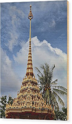Wat Chalong 5 Wood Print by Metro DC Photography