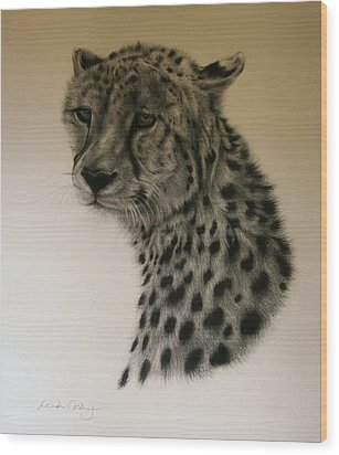 Watchful Wood Print by Lucinda Coldrey