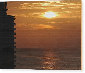 Wood Print featuring the photograph Watching The Sunset by Coby Cooper