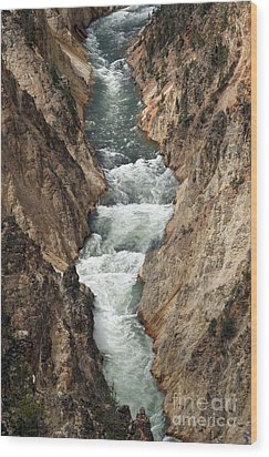 Wood Print featuring the photograph Water And Rock by Living Color Photography Lorraine Lynch