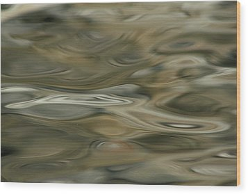 Wood Print featuring the photograph Water And Rocks  by Cathie Douglas