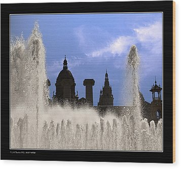 Wood Print featuring the photograph Water And Shadows by Pedro L Gili