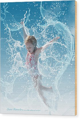 Water Baby Wood Print by Suni Roveto