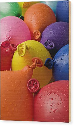 Water Balloons Wood Print by Garry Gay