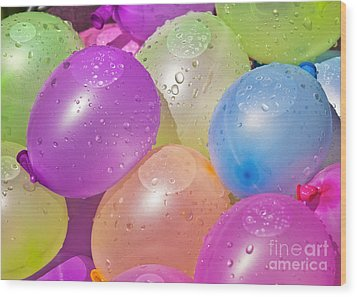 Water Balloons Wood Print by Patrick M Lynch
