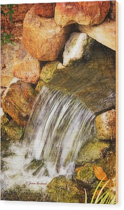 Wood Print featuring the photograph Water Fall by Joan Bertucci