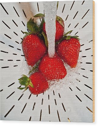 Wood Print featuring the photograph Water For Strawberries by David Pantuso
